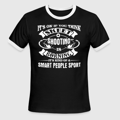 Skeet Shooting Shirt - Men's Ringer T-Shirt