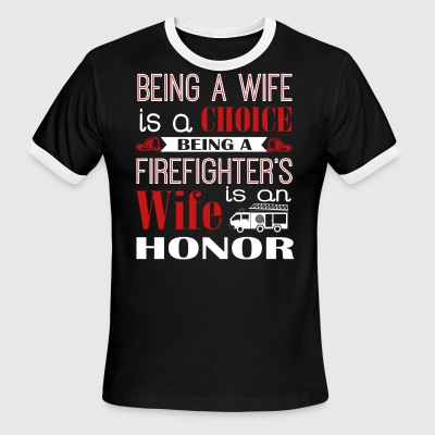 Firefighter Wife Shirt - Men's Ringer T-Shirt