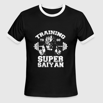 Goku Super Saiyan training - Men's Ringer T-Shirt