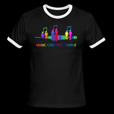 music connect people - Men's Ringer T-Shirt