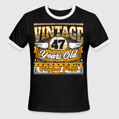 Funny 47th Birthday Shirt: Vintage 47 Years Old - Men's Ringer T-Shirt