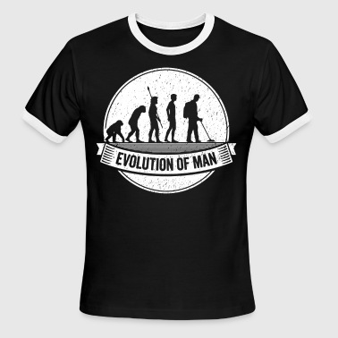 Treasure Hunter: Graphic Metal Detector Evolution - Men's Ringer T-Shirt