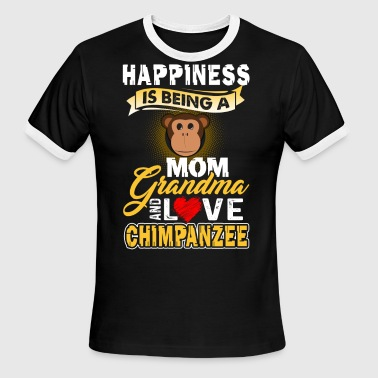 Chimpanzee Shirt - Chimpanzee Mom Shirt - Men's Ringer T-Shirt