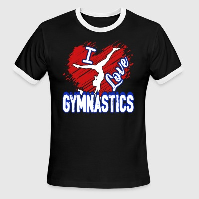 I LOVE GYMNASTICS SHIRT - Men's Ringer T-Shirt