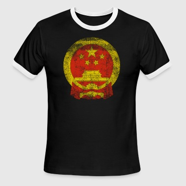 Chinese Coat of Arms China Symbol - Men's Ringer T-Shirt