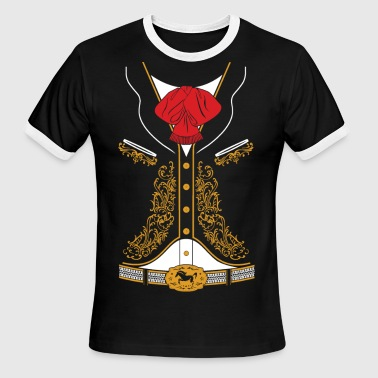 Mexican Mariachi Charro Suit - Men's Ringer T-Shirt