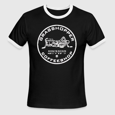 Grasshopper Cafe Amsterdam Marijuana - Men's Ringer T-Shirt