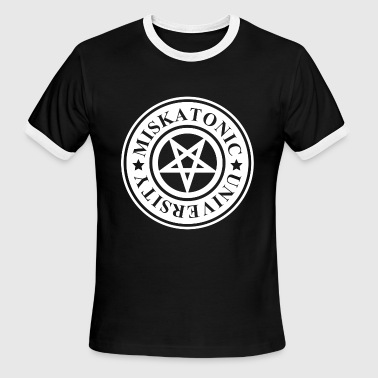 MISKATONIC UNIVERSITY - Men's Ringer T-Shirt