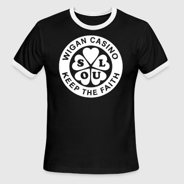 Wigan Casino Keep The Faith Top Northern Soul - Men's Ringer T-Shirt