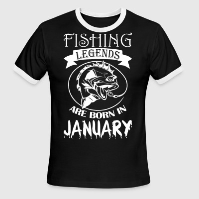 Fishing Legends Are Born In January - Men's Ringer T-Shirt