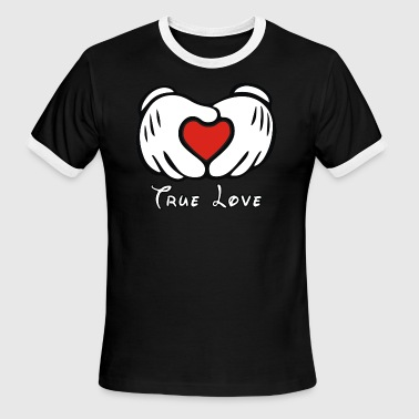 Mickey et L amour - Men's Ringer T-Shirt