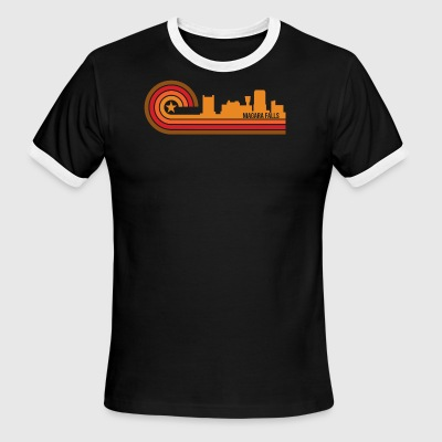 Retro Style Niagara Falls New York Skyline - Men's Ringer T-Shirt