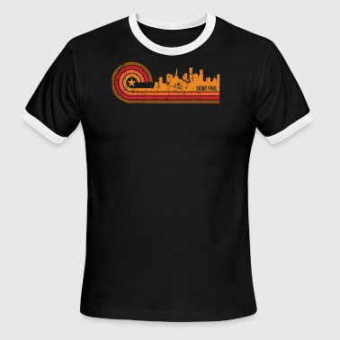 Retro Style Saint Paul Minnesota Skyline - Men's Ringer T-Shirt