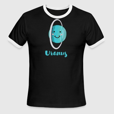 Cartoon Planet Uranus - Men's Ringer T-Shirt