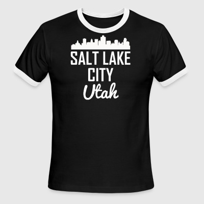 Salt Lake City Utah Skyline - Men's Ringer T-Shirt