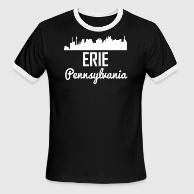 Erie Pennsylvania Skyline - Men's Ringer T-Shirt