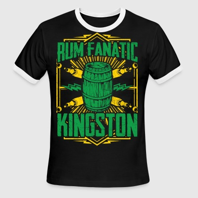Rum Fanatic T-shirt - Kingston, Jamaica - Men's Ringer T-Shirt