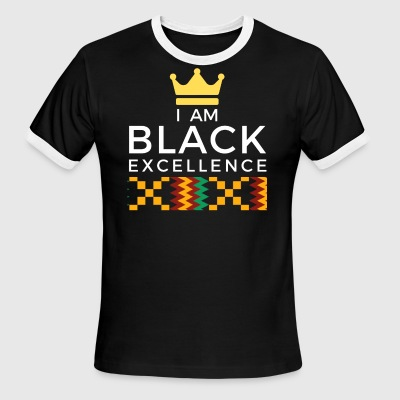 I AM BLACK EXCELLENCE 1 - Men's Ringer T-Shirt