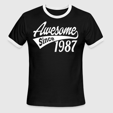 Awesome Since 1987 - Men's Ringer T-Shirt