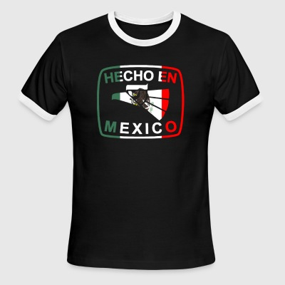 Cool Mexican Shirt Mexican Flag Shirt for Mexican Pride HEcho En Mexico - Men's Ringer T-Shirt