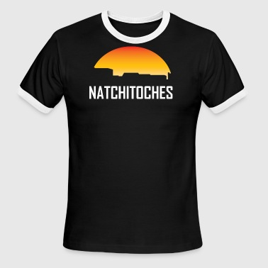 Natchitoches Louisiana Sunset Skyline - Men's Ringer T-Shirt