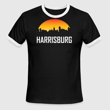 Harrisburg Pennsylvania Sunset Skyline - Men's Ringer T-Shirt