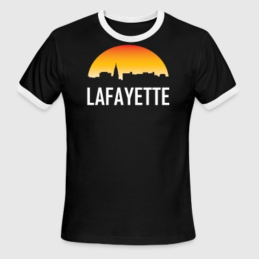 Lafayette Indiana Sunset Skyline - Men's Ringer T-Shirt