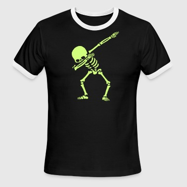Dabbing Skeleton Dance - Men's Ringer T-Shirt