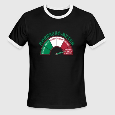 Cinco de Mayo Borracho Meter - Men's Ringer T-Shirt