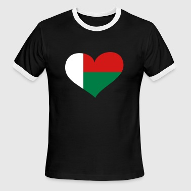 Madagascar Heart; Love Madagascar - Men's Ringer T-Shirt