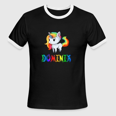 Dominik Unicorn - Men's Ringer T-Shirt