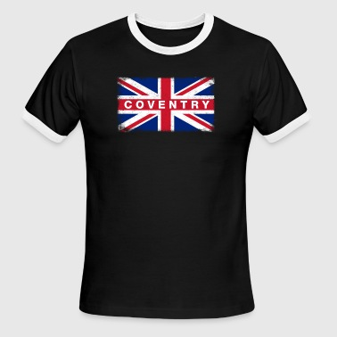 Coventry Shirt Vintage United Kingdom Flag T-Shirt - Men's Ringer T-Shirt