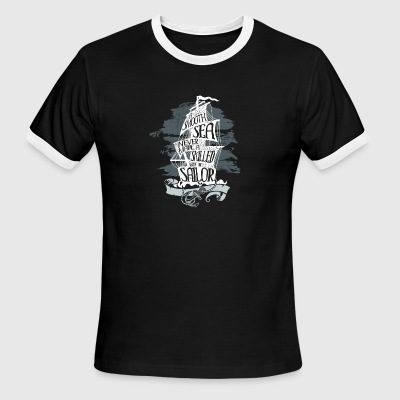 A Smooth Sea Never Made A Skilled Sailor Saying - Men's Ringer T-Shirt