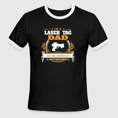 Laser Tag Dad Shirt Gift Idea - Men's Ringer T-Shirt
