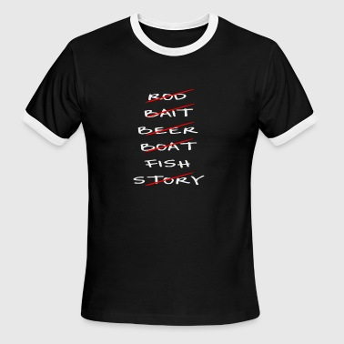 Fishing Checklist - Men's Ringer T-Shirt