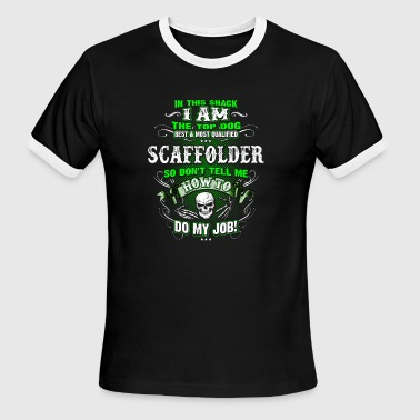 Scaffolder Shirts for Men, Job Shirt with Skull - Men's Ringer T-Shirt