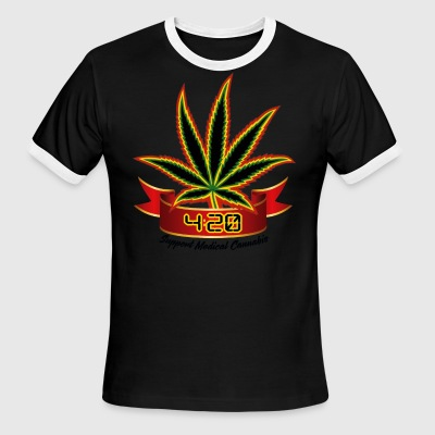 support_medical_cannabis_420 - Men's Ringer T-Shirt