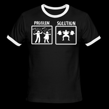 Problem Solution Weight Lifting - Men's Ringer T-Shirt