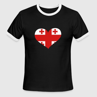 Georgia Heart; Love Georgia - Men's Ringer T-Shirt