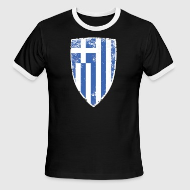 Shield of Greece - Men's Ringer T-Shirt