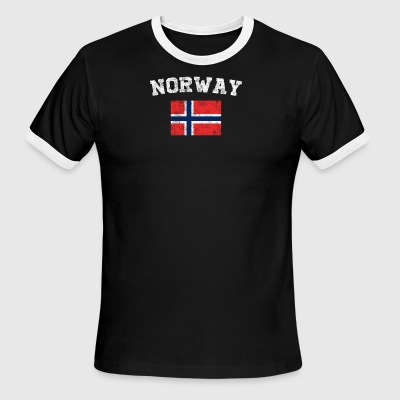 Norwegian Flag Shirt - Vintage Norway T-Shirt - Men's Ringer T-Shirt