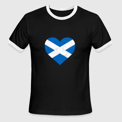 Scotland Flag Shirt Heart - Scottish Shirt - Men's Ringer T-Shirt