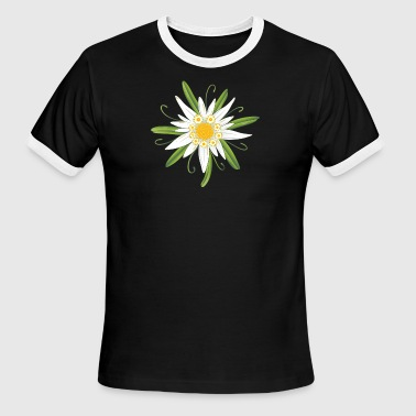 Edelweiss, big flower for the Oktoberfest. - Men's Ringer T-Shirt