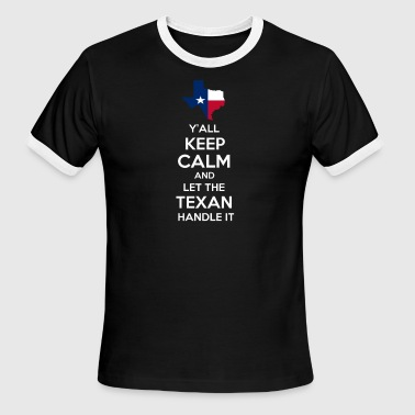 Texas Y'all State Designs - Men's Ringer T-Shirt
