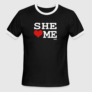 she loves me by wam - Men's Ringer T-Shirt