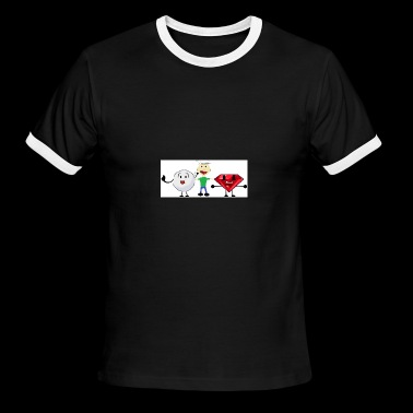 Snowball, me, and Ruby (I am a fan of BFDI!) - Men's Ringer T-Shirt