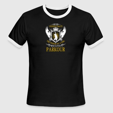 Girl Who Loves Parkour Tee Shirt - Men's Ringer T-Shirt