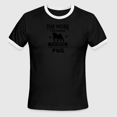 My Pug makes me happy - Men's Ringer T-Shirt