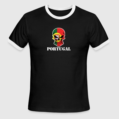 Portuguese Flag Skull Portugal - Men's Ringer T-Shirt