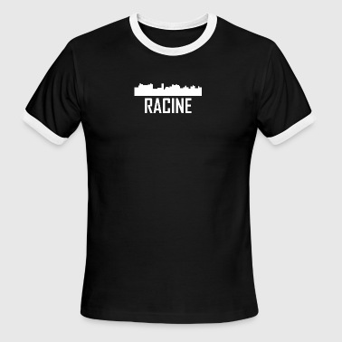 Racine Wisconsin City Skyline - Men's Ringer T-Shirt